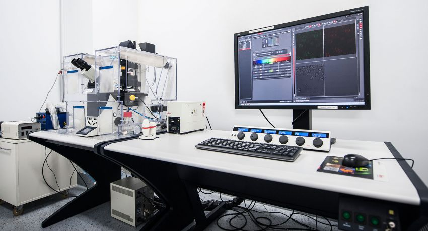 Leica SP8 Resonant Scanning Confocal microscope at the Institute