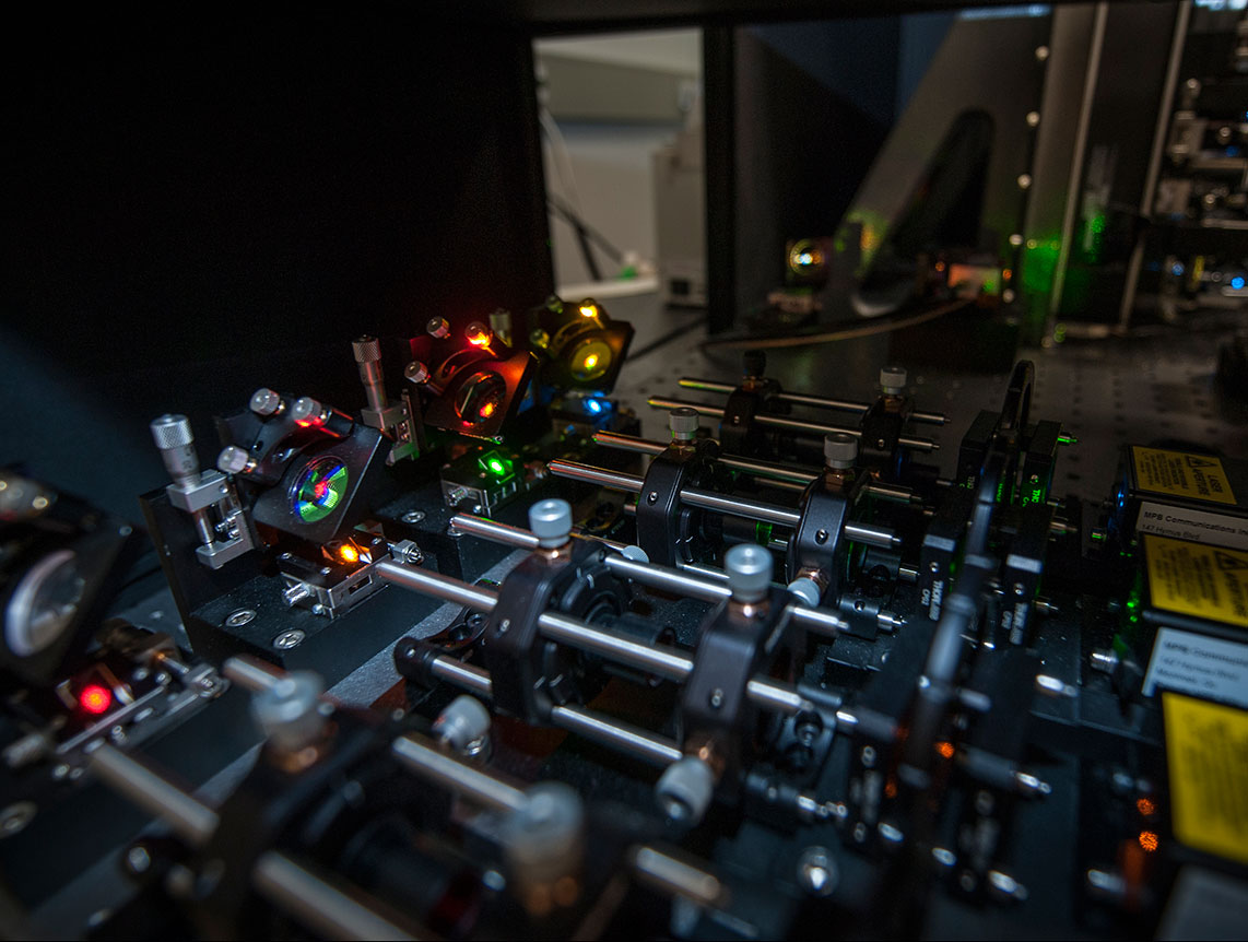 Photo of the lattice light sheet microscope